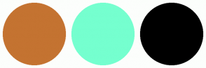 Color Scheme with #C47331 #75FFCF #000000