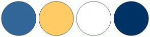 Color Scheme with #336699 #FFCC66 #FFFFFF #003366