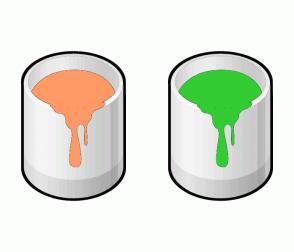 Color Scheme with #FF9966 #33CC33