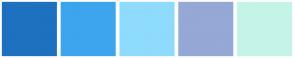 Color Scheme with #1E71BF #3CA5EE #8EDBFD #95A8D6 #C4F4E7