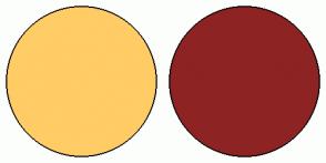 Color Scheme with #FFCC66 #8E2323