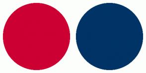 Color Scheme with #CC0033 #003366