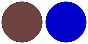Color Scheme with #6F4242 #0000CC