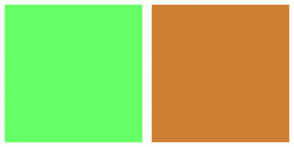 Color Scheme with #66FF66 #CD7F32