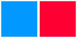 Color Scheme with #0099FF #FF0033