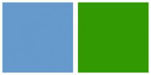 Color Scheme with #6699CC #339900