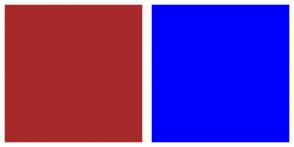 Color Scheme with #A62A2A #0000FF