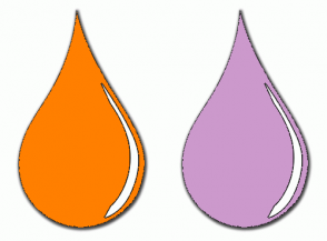 Color Scheme with #FF7F00 #CC99CC