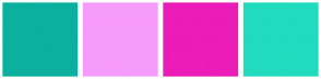 Color Scheme with #0BB09F #F59BFA #EB1CB7 #21DBBF