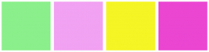 Color Scheme with #8BF08B #F2A2F2 #F5F525 #EB46D2