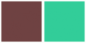 Color Scheme with #6F4242 #32CD99