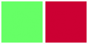 Color Scheme with #66FF66 #CC0033