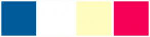 Color Scheme with #005B9A #FFFFFF #FFFCBF #F50056