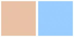 Color Scheme with #E9C2A6 #99CCFF