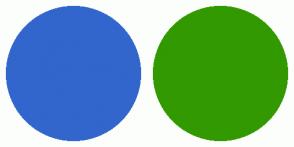 Color Scheme with #3366CC #339900