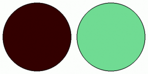 Color Scheme with #330000 #70DB93