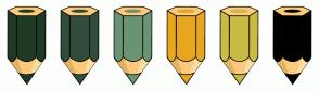 Color Scheme with #1F3B26 #324D3C #6A9473 #E6A71F #CABB43 #000000