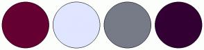 Color Scheme with #660033 #E0E6FF #777B88 #330033