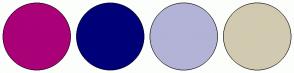 Color Scheme with #AA0078 #000078 #B3B3D7 #D1CAB0