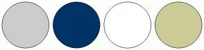 Color Scheme with #CCCCCC #003366 #FFFFFF #CCCC99