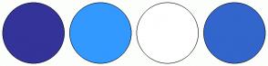 Color Scheme with #333399 #3399FF #FFFFFF #3366CC