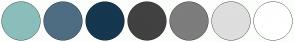 Color Scheme with #8BBEBB #4F6D82 #15374F #424141 #7D7D7D #DEDEDE #FFFFFF