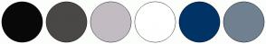 Color Scheme with #080808 #4A4747 #C2BCC2 #FFFFFF #003366 #708090