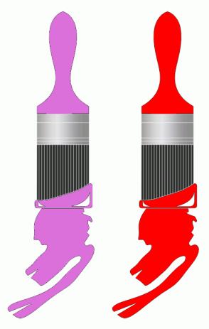 Color Scheme with #DB70DB #FF0000