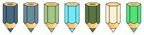 Color Scheme with #47697E #688B9A #A3C586 #74E9F5 #5B7444 #FCF1D1 #56DE79