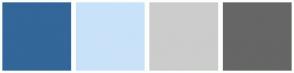 Color Scheme with #336699 #C9E2F9 #CCCCCC #666666