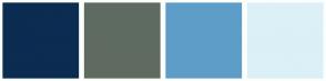 Color Scheme with #0C2C52 #5F6B61 #5E9DC8 #DCF0F7