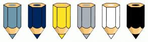 Color Scheme with #6D98AB #00275E #FFE325 #A8B1B8 #FFFFFF #000000