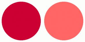 Color Scheme with #CC0033 #FF6666