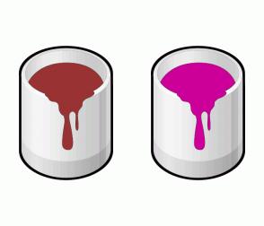 Color Scheme with #993333 #CC0099