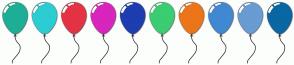 Color Scheme with #1DAF96 #2CCDD2 #E33344 #D825BD #1E3DAF #3BCD72 #ED7519 #4188D2 #689CD2 #0A67A3