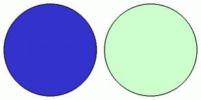 Color Scheme with #3333CC #CCFFCC