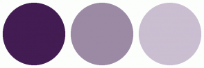 Color Scheme with #421C52 #9C8AA5 #CABED1