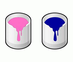 Color Scheme with #FF6EC7 #00009C
