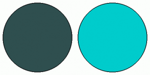 Color Scheme with #2F4F4F #00CCCC