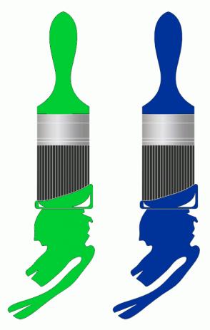 Color Scheme with #00CC33 #003399