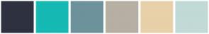 Color Scheme with #2E3240 #16B9B3 #6D929B #B7AFA3 #E8D0A9 #C1DAD6