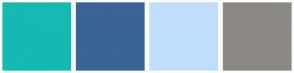Color Scheme with #16B9B3 #396495 #C2DEFF #8C8984