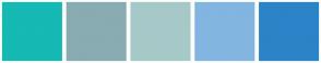Color Scheme with #16B9B3 #89ABB2 #A6C9C8 #83B5E1 #2B84C7
