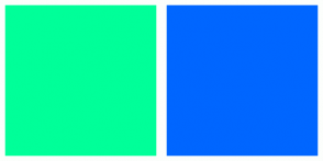 Color Scheme with #00FF99 #0066FF