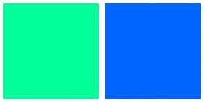 Color Scheme with #00FF99 #0066FF