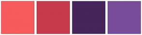 Color Scheme with #F75B5B #C73A4B #45255B #794C9A