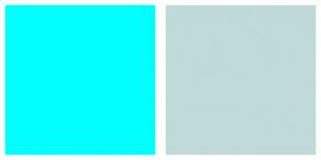 Color Scheme with #00FFFF #C0D9D9