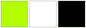 Color Scheme with #B3FF00 #FFFFFF #000000