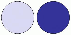 Color Scheme with #D9D9F3 #333399