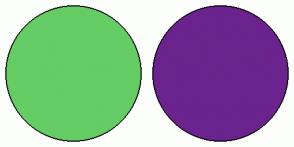 Color Scheme with #66CC66 #6B238E